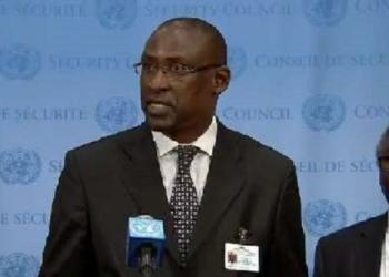 Abdoulaye Diop le ministre des Affaires étrangères accompagné de Sekou Kassé, ex-ambassadeur du Mali à l'ONU depuis septembre 2013-2016.