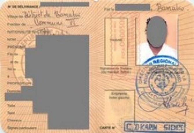 Niena Blendio Finkolo Ganadougou La Carte D Identite Nationale
