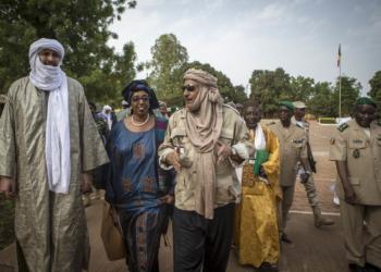 En prélude au lancement des du processus de DDR, un exercice de simulation au camp du Génie militaire de Bamako afin de démarré la phase pilote de Procès d'Intégration DDR au site de cantonnement de Fafa le 17 Avril 2017.Photo : MINUSMA /Harandane Dicko