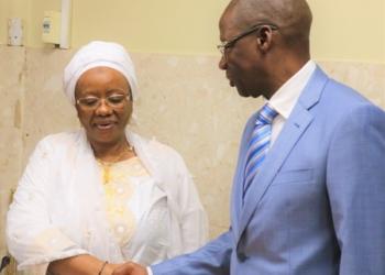 INPS: Mme Sidibé Zamilatou Cissé installée dans ses nouvelles fonctions de Directrice Générale ce jeudi 08 août 2019. Photo: SRP/INPS